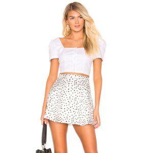 SUPERDOWN jaime skater mini skirt white star print